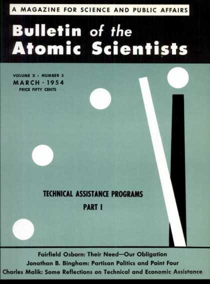 Bulletin of the Atomic Scientists - March 1954