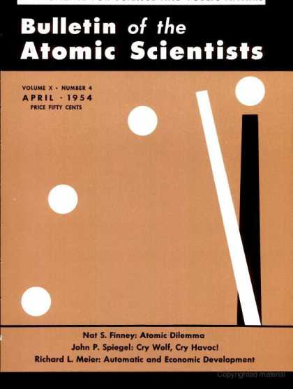 Bulletin of the Atomic Scientists - April 1954