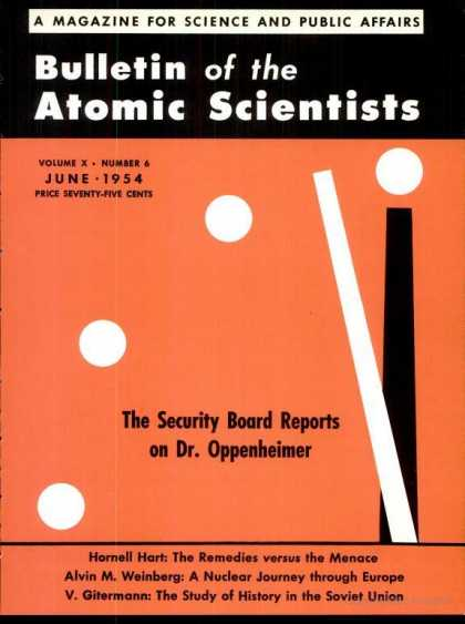 Bulletin of the Atomic Scientists - June 1954
