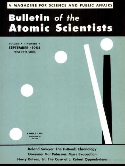 Bulletin of the Atomic Scientists - September 1954