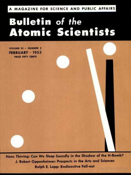 Bulletin of the Atomic Scientists - February 1955