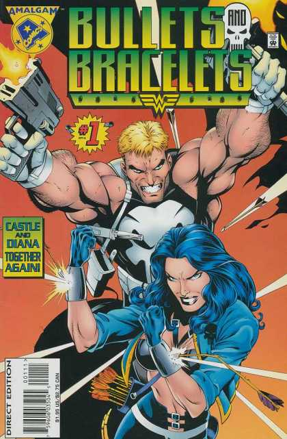 Bullets and Bracelets 1 - Amalgam - Punisher - Wonder Woman - Arrows - Bracelets - Gary Frank