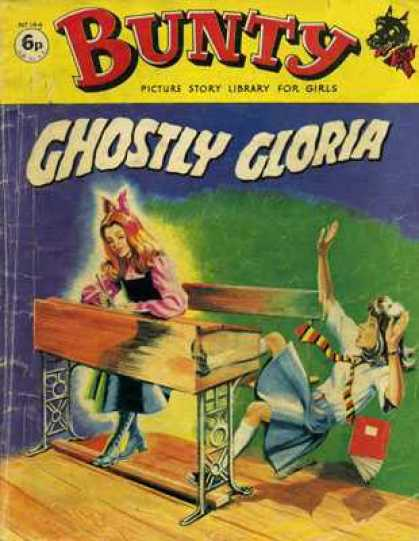 Bunty Picture Story Library 144 - Ghostly Gloria - Bunty - Picture Story Library For Girls - Gohst - Scared School Girl