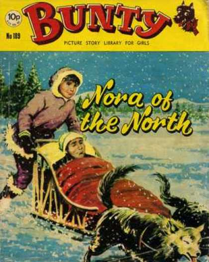 Bunty Picture Story Library 189 - Nora Of The North - Eskimo - Snow - People - Sled