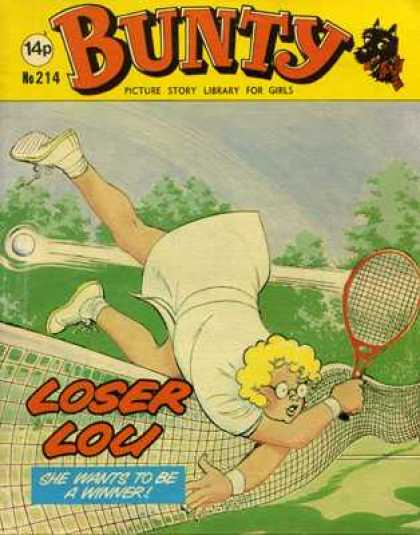 Bunty Picture Story Library 214 - Tennis - Falling - Loser Lou - Wants To Be A Winner - Trees