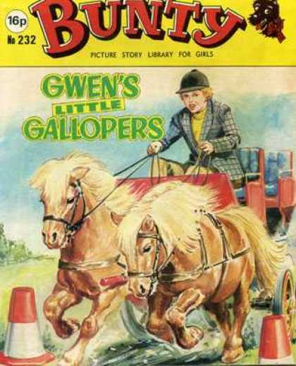 Bunty Picture Story Library 232 - Bundy - Old Comic - Gwens Little Gallopers - Horses - Vintage Book