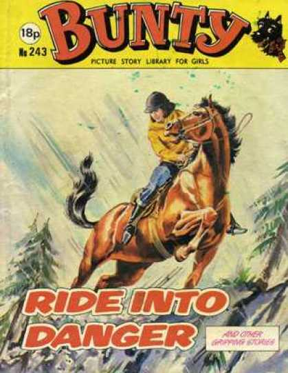 Bunty Picture Story Library 243 - Trees - Nr243 - Ride Into Danger - Girls - Horse