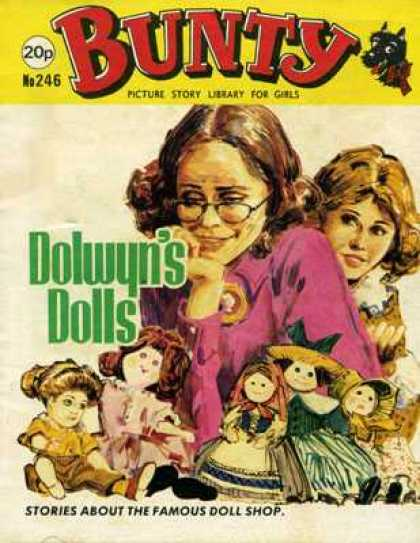 Bunty Picture Story Library 246 - Girls - 20p - No246 - Dolwyns Dolls - Doll Shop