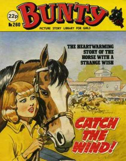 Bunty Picture Story Library 260 - For Girls - Catch The Wind - Horses - Strange Wish - Heartwarming Story