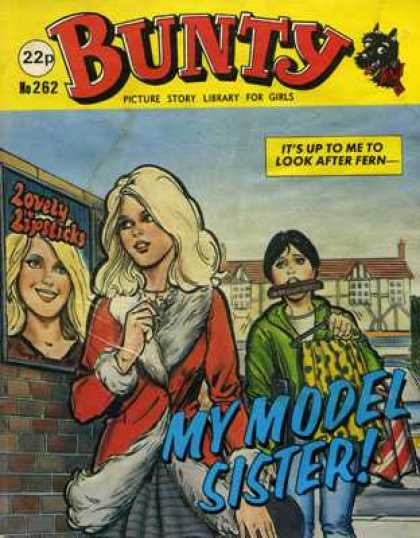 Bunty Picture Story Library 262 - Blonde - My Model Story - Lovely Lipsticks - Girls - Brick Wall
