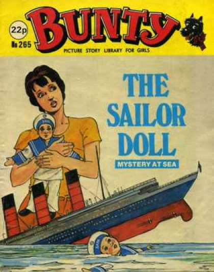 Bunty Picture Story Library 265 - Ship Sinking - Sea - The Sailor Doll - Mystery At Sea - Girl