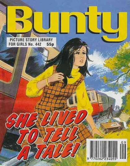 Bunty Picture Story Library 442 - Yellow Shirt - Checked Dress - Trains - Train Wreck - Luggage