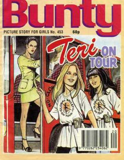 Bunty Picture Story Library 453 - Teri On Tourballet - Head Phones - For Girls - No 453 - Bus