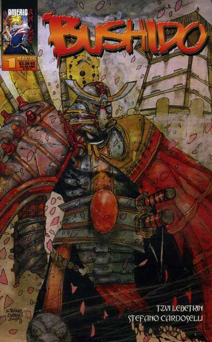 Bushido 1 - Helmet - Red Oval Belt - City - Swords - Red Cape