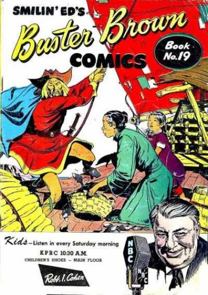 Buster Brown Comics 19 - Buster Brown - 19 - Smilin Eds - Pirate - Oriental