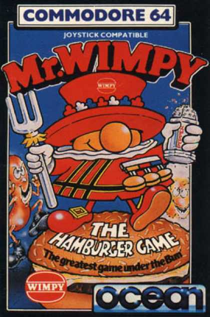 C64 Games - Mr. Wimpy: The Hamburger Game