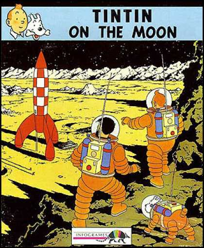 C64 Games - Tintin on the Moon
