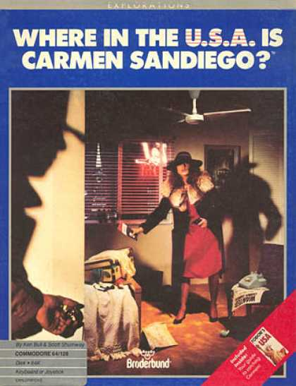 C64 Games - Where in the USA is Carmen Sandiego?