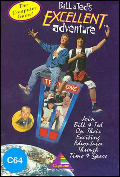 C64 Games - Bill & Ted's Excellent Adventure