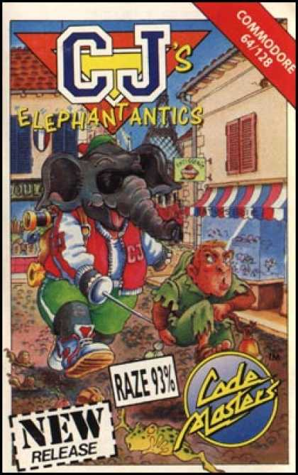 C64 Games - CJ's Elephant Antics