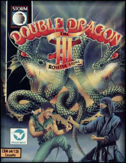 C64 Games - Double Dragon III: Rosetta Stone