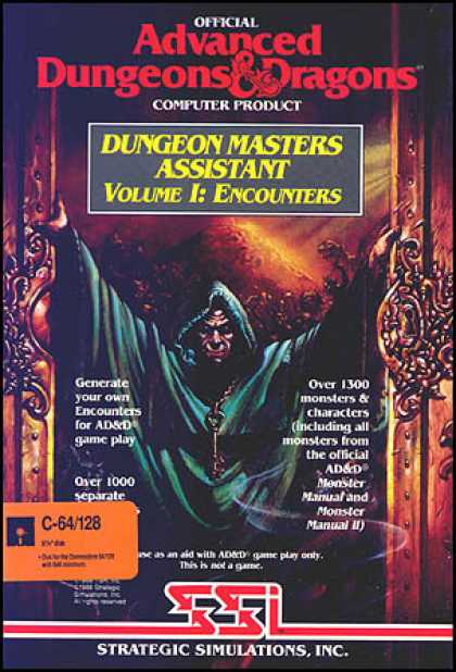 C64 Games - Dungeon Masters Assistant: Volume I - Encounters