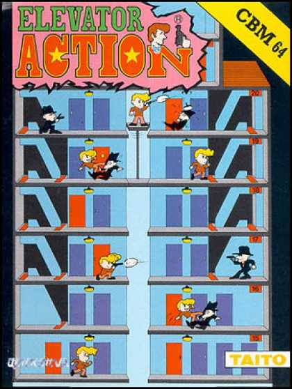 C64 Games - Elevator Action