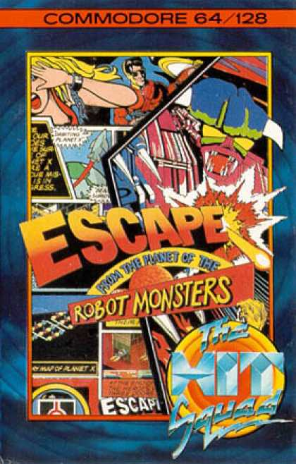 C64 Games - Escape from the Planet of the Robot Monsters