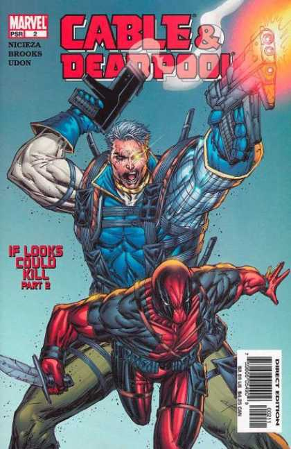 Cable & Deadpool 2 - Guns - Looks Could Kill - Marvel - Knife - Muscles - Rob Liefeld
