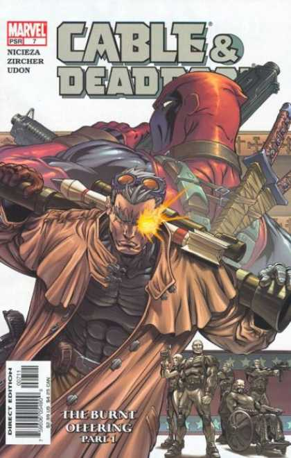 Cable & Deadpool 7 - Guns - Sword - Rocket - Marvel - The Burnt Offering Part 1