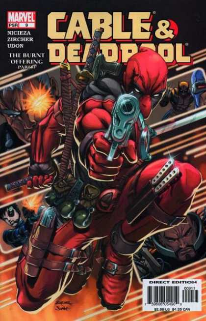 Cable & Deadpool 9 - Gun - Marvel - Nicieza - Wolverine - Swords