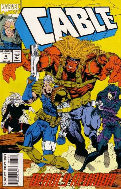 Cable 4 - Cable - Marvel - August - Deadly Reunion - Gun - Bart Sears