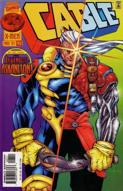 Cable 43 - White Hair - Glowing Eye - Divided - Swords - Menancing