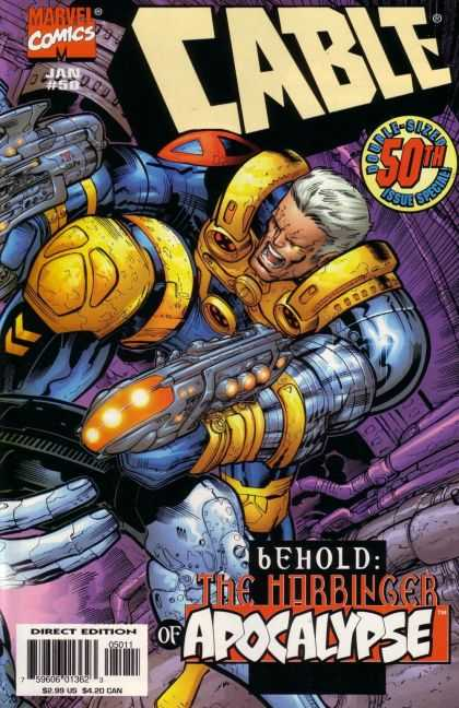 Cable 50 - Double Sized - 50th Issue - Harbinger Of Apocolypse - Duel Wielding Laser Pistols - Screaming - Jose Ladronn