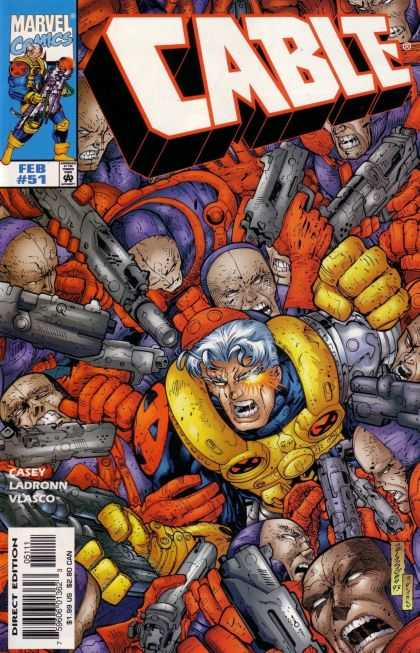 Cable 51 - Marvel - Purple - Red - Yellow - Guns - Jose Ladronn