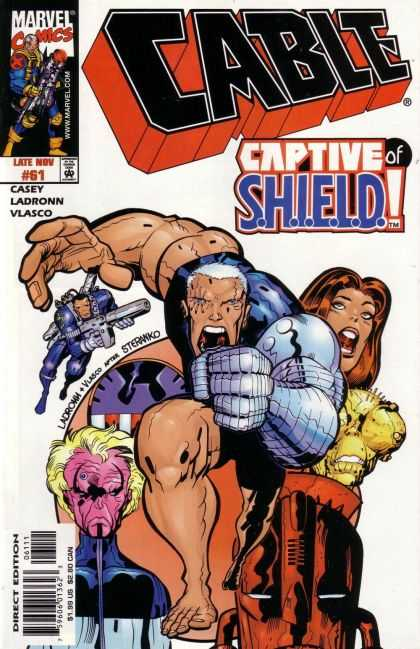 Cable 61 - Marvel Comics - Captive Of Shield - Casey Ladronn Vlasco - Mutant - Superheo - Jose Ladronn