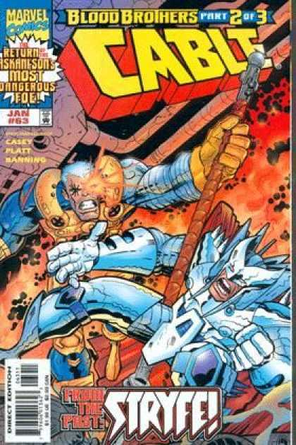 Cable 63 - Marvel - Marvel Comics - Blood Brothers - Part 2 - Part 2 Of 3 - Jose Ladronn