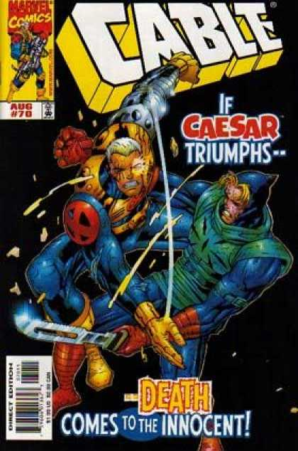 Cable 70 - Marvel Comics - Caesar Triumphs - Direct Edition - Mutant - Death Comes To The Innocent - Jose Ladronn