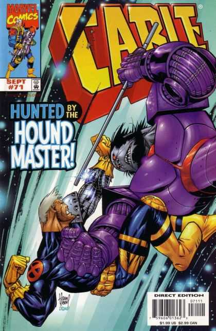 Cable 71 - Hunted By The Hound Master - Purple Suit - Rod - Marvel - Gold Boots - Adam Kubert