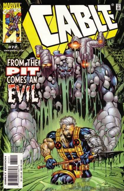 Cable 72 - From The Pit Comes An Evil - Spear - X-men - Sludge - Marvel - Andy Kubert