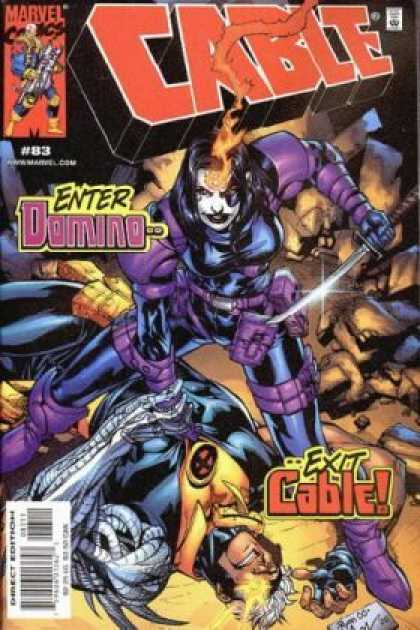 Cable 83 - Marvel Comics - Enter Domino - Approved By The Comics Code Authority - Direct Edition - Exit