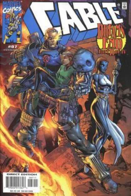 Cable 87 - Dreams End Part 2 Of 4 - Injured Kid - Space Soldier - Ruins - Blue Woman