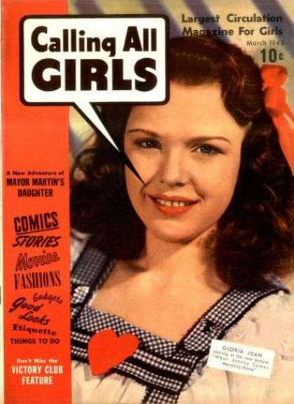 Calling All Girls 16 - Largest Circulation Magazine For Girls - Woman - Comics Stories - Movies - Fashions
