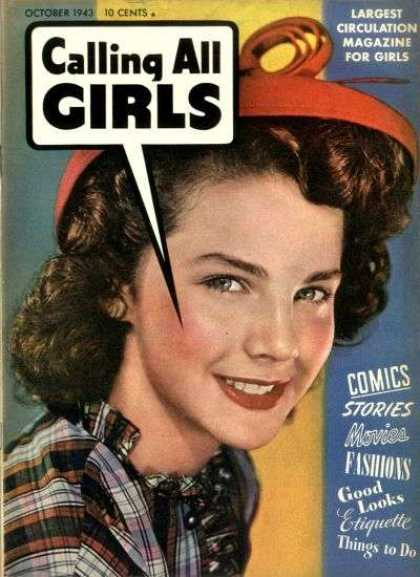 Calling All Girls 22 - October 1943 - Magazine - Movies - Fashion - Teenager