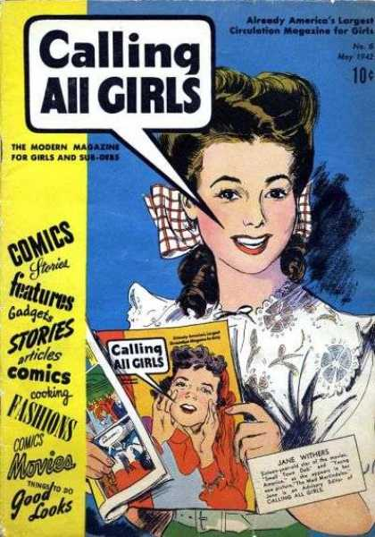 Calling All Girls 6 - The Modern Magazine - Comics Stories - Cooking - Fashions - Movies