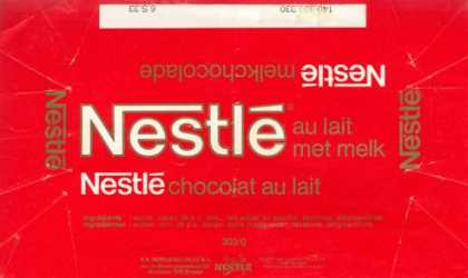 Candy Wrappers - Nestle Belgium