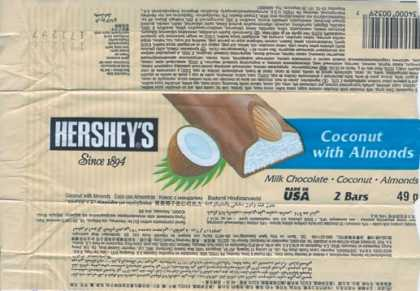 Candy Wrappers - Hershey Chocolate U.S.A