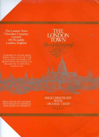 Candy Wrappers - The London Town chocolate company
