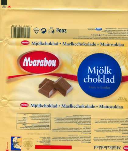 Candy Wrappers - Kraft Foods Sverige (Marabou)