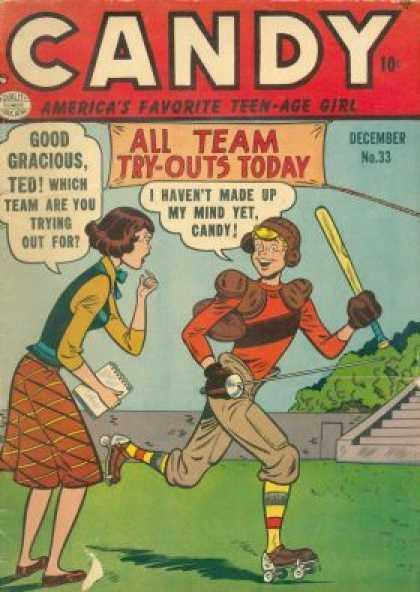 Candy 33 - Ted - Baseball - Roller Skates - No 33 - All Team Try-outs